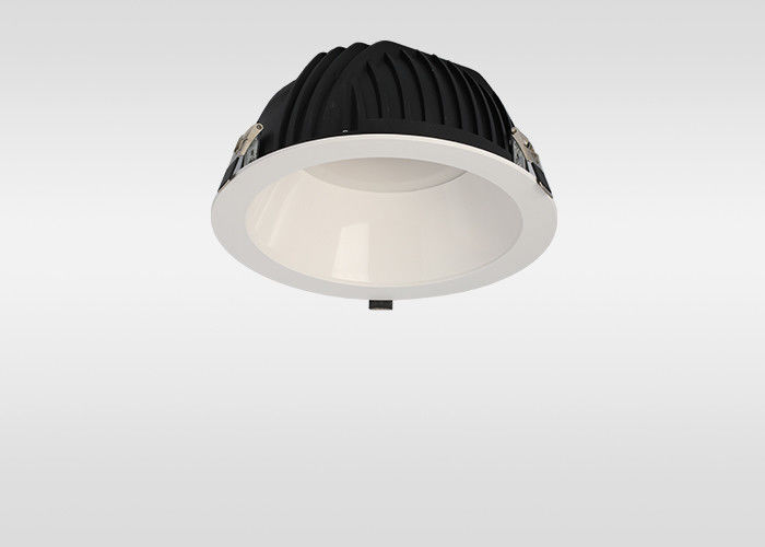 15W White Recessed Led Downlights 1200lm With Frosted Reflector Compact Desgin Commercial Lighting